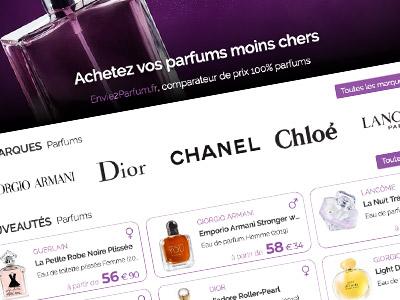 Envie2Parfum.fr, Comparateur de prix 100% Parfums
