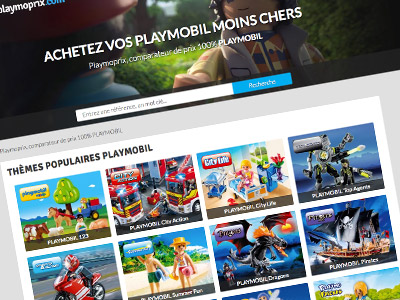 Playmoprix.com, Comparateur de prix 100% PLAYMOBIL